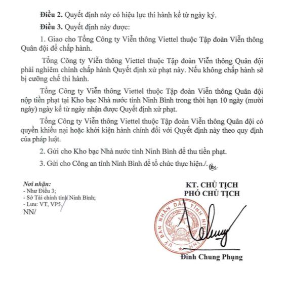 Tong Cong ty Vien thong Viettel len tieng khi bi xu phat 90 trieu dong hinh anh 3