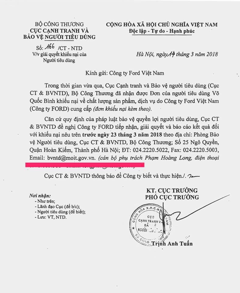 Khach hang kien Ford Viet Nam vi loi hop so: Chuyen don den TAND TP.Hai Duong hinh anh 3