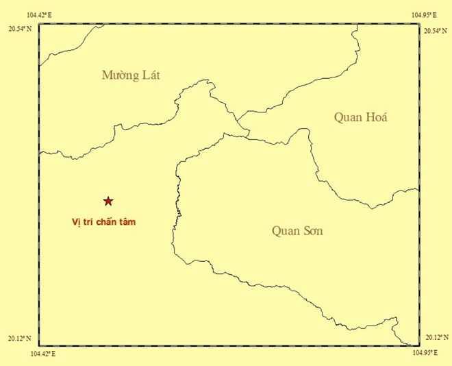 Thanh Hoa xay ra dong dat gan bien gioi Viet - Lao hinh anh 1