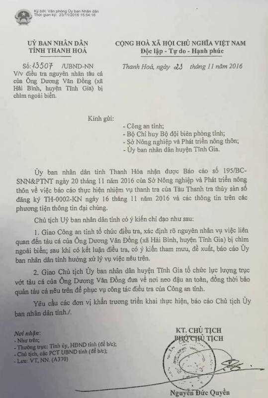 Cong an Thanh Hoa vao cuoc vu tau ngu dan bi dam chim hinh anh 1