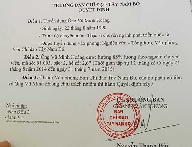 Vu Minh Hoang - Vu pho duoc bo nhiem 'than toc' la ai? hinh anh 2