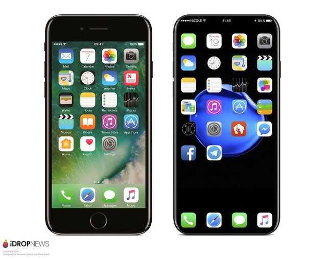 Xuat hien ban iPhone 8 voi thiet ke khong canh hinh anh 1
