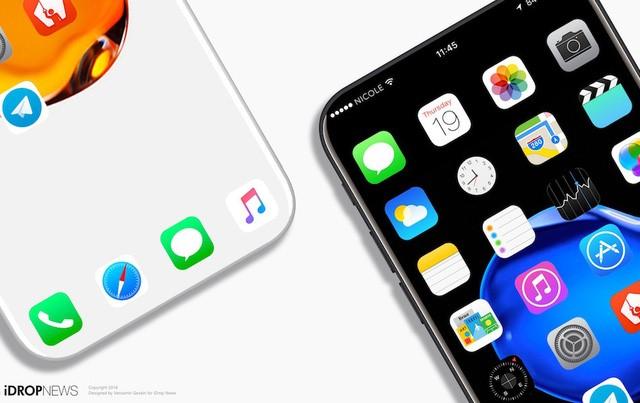 Xuat hien ban iPhone 8 voi thiet ke khong canh hinh anh 2