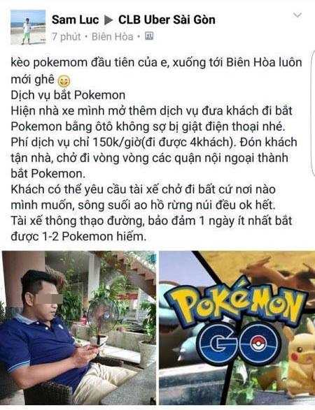 Dan Sai Gon thue oto chay quanh thanh pho bat Pokemon hinh anh 1