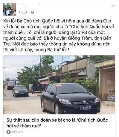 Dang clip sai su that, hang loat facebooker go bai va xin loi Chu tich Quoc hoi hinh anh 1
