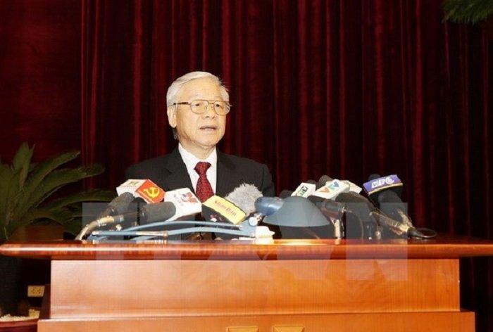 Tong Bi thu Nguyen Phu Trong: 'Bo may he thong chinh tri con cong kenh, kem hieu luc' hinh anh 1
