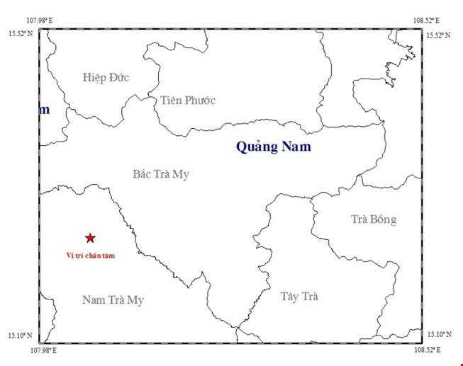 Dong dat 3,9 do richter kem tieng no lon o Quang Nam hinh anh 1
