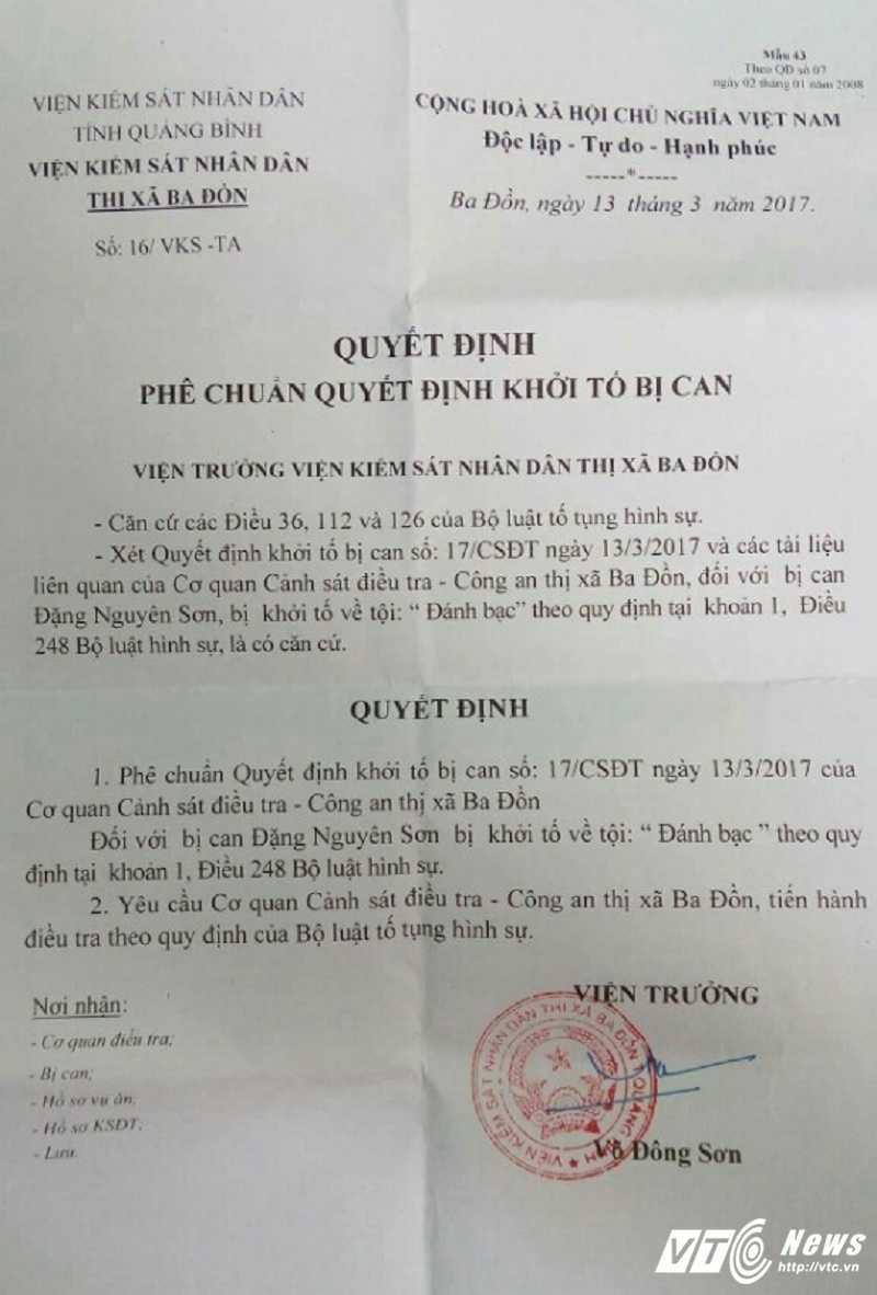Nhieu can bo bi khoi to trong vu danh bac o Quang Binh hinh anh 2