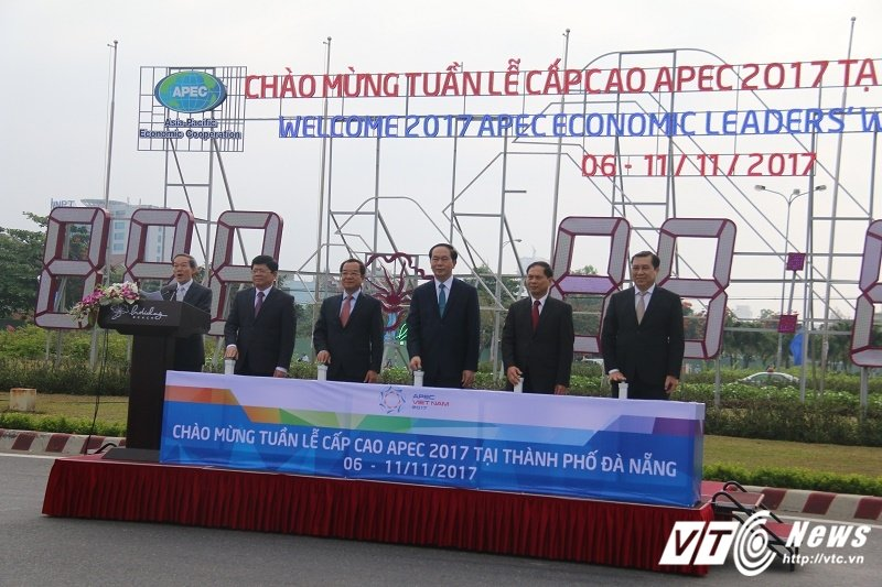 Chu tich nuoc kiem tra cong tac chuan bi cho APEC 2017 tai Da Nang hinh anh 1