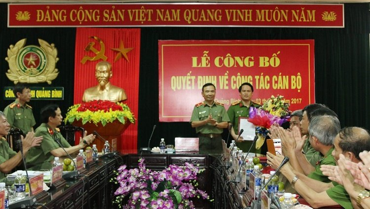 Cong an Quang Binh co tan pho giam doc hinh anh 1