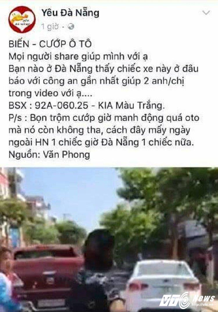 Cuop xe o to o trung tam Da Nang la tin don that thiet hinh anh 1