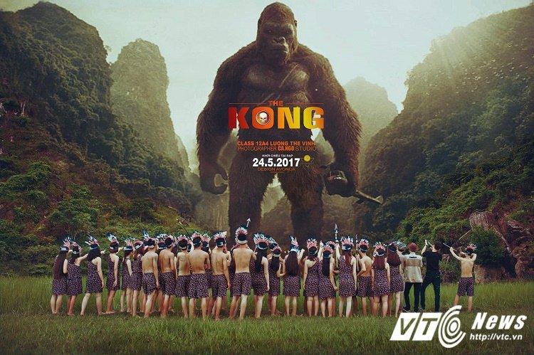 Chet cuoi voi 'Kong: Dao dau lau' phien ban anh ky yeu cua hoc sinh Quang Binh hinh anh 1
