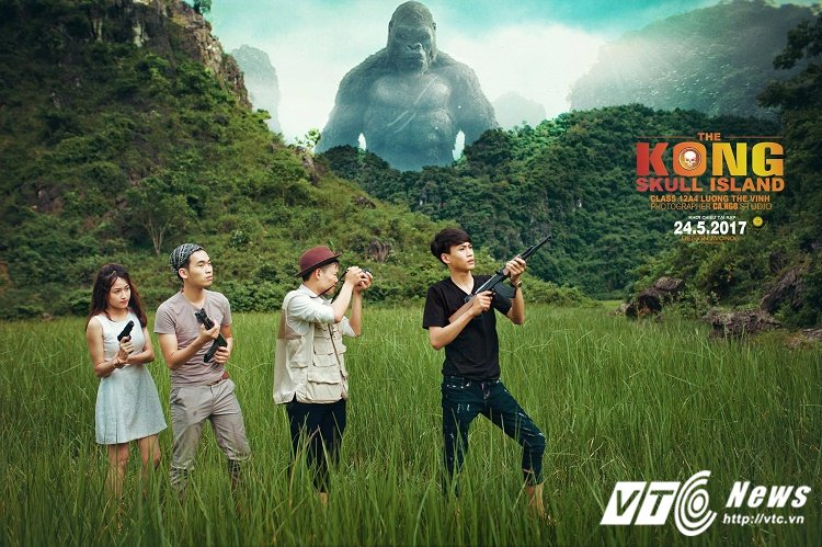 Chet cuoi voi 'Kong: Dao dau lau' phien ban anh ky yeu cua hoc sinh Quang Binh hinh anh 4
