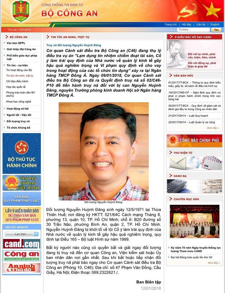 Truy na nguyen truong phong kinh doanh Ngan hang Dong A hinh anh 1