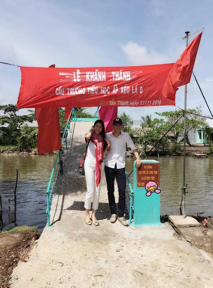 Cong Vinh, Thuy Tien xay cau cho tre em ngheo di hoc hinh anh 1