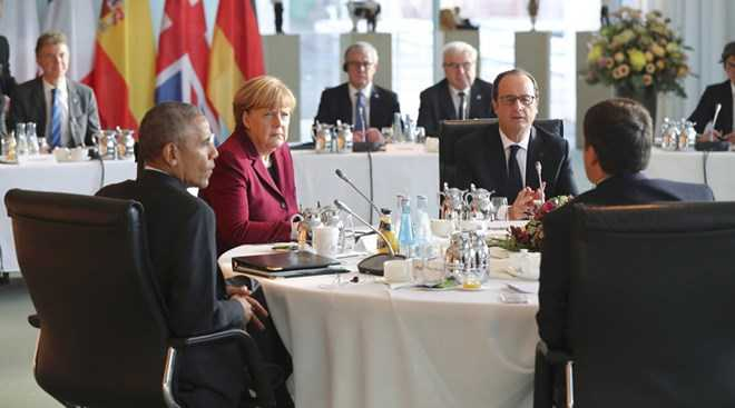 Obama va cac lanh dao chau Au nhat tri tiep tuc trung phat Nga hinh anh 1