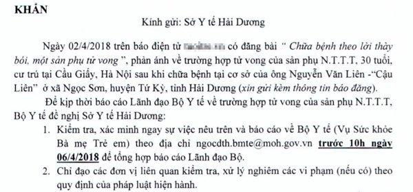 Tin thay boi o Hai Duong, san phu mat mang: Bo Y te vao cuoc hinh anh 1