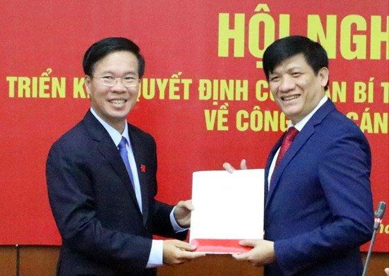 Thu truong Bo Y te giu chuc Pho Truong Ban Tuyen giao Trung uong hinh anh 1
