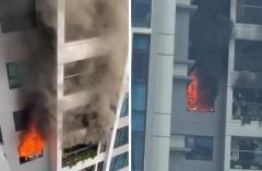 Cháy chung cư Goldmark City ở Hà Nội, cư dân ôm con nhỏ tháo chạy