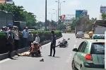 Va chạm với xe tải, một chiến sĩ CSGT Hưng Yên bị thương nặng