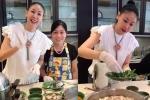 Clip: Hoa hậu Hà Kiều Anh trổ tài vừa nói tiếng Anh vừa nấu ăn