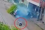 Clip: Nữ tài xế ngã vật ra đất sau khi gây tai nạn thảm khốc