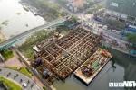 Hình ảnh mới nhất dự án chống ngập 10.000 tỷ đồng ở TP.HCM đã ngừng thi công