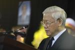 Tổng Bí thư Nguyễn Phú Trọng đọc lời điếu tiễn biệt nguyên Tổng Bí thư Đỗ Mười