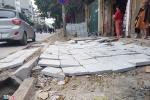 Lát đá vỉa hè Hà Nội: Thanh tra chỉ hàng loạt sai phạm
