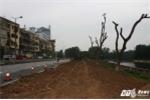 Ảnh: Phố Kim Mã sau ngày di dời hàng cây cổ thụ làm ga đường sắt