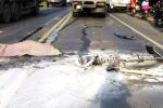 Xe tải chạy lấn làn tông chết thiếu niên 15 tuổi