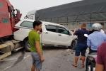 Tài xế xe tải quay đầu bất cẩn gây tai nạn liên hoàn tại Bắc Ninh