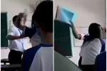 Xôn xao clip thầy giáo và nữ sinh đánh nhau tay đôi trong lớp học