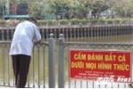 Ảnh: Thi nhau câu cá cạnh biển cấm ở kênh Nhiêu Lộc - Thị Nghè