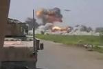 Video: Thiết bị như đĩa bay nã đạn xối xả, phá hủy căn cứ khủng bố ở Afghanistan