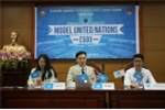 Sinh viên Học viện An ninh nhân dân giả lập phiên họp Liên Hợp Quốc