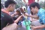 Các bạn trẻ Hà Nội chế tạo tên lửa nước