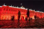 Kỷ niệm 100 năm Cách mạng tháng 10 Nga, Cung điện Mùa đông đỏ rực trong đêm