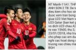 Trường cấp 3 ở Nghệ An cho học sinh nghỉ học xem bán kết U23 Việt Nam - Qatar