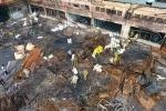 Video: Hiện trường cháy Công ty Rạng Đông sau nửa tháng dọn dẹp nhìn từ flycam