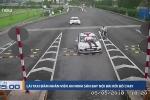 Xác minh danh tính tài xế taxi đâm nhân viên an ninh ở Nội Bài