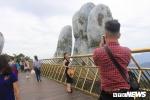 Anh: Chiem nguong cay cau Vang doc dao nam tren ban tay khong lo o Da Nang hinh anh 11