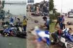 Ảnh: Hiện trường container đâm hơn 20 xe máy chờ đèn đỏ, người thương vong la liệt