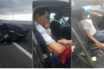 Clip: Mazda nổ lốp trên cao tốc và hành động đầy tình người của tài xế qua đường