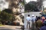Bốn ô tô bốc cháy sau tai nạn liên hoàn ở Phú Thọ