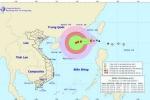Tin mới nhất về cơn bão số 6 trên Biển Đông