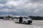 Tài xế xe bệnh viện tâm thần rút dao dọa chém tài xế xe tải sau va chạm giao thông