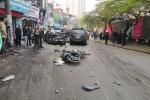 Ô tô 'điên' tông hàng loạt xe trên phố Thủ đô, nhiều người thương vong