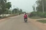 Video: Chồng vừa đi xe máy vừa đánh vợ thùm thụp