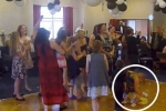 Clip: Đánh rơi em bé để đưa tay bắt… hoa cưới